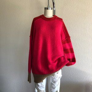 French Conn Natalya Knits Colorblock Crew Neck Swe